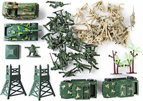 Nerd Clear Militär Soldaten viele Teile Set Fahrzeugen Bundeswehr Figuren Kinder-Spielzeug XXXL Set 100 Teile