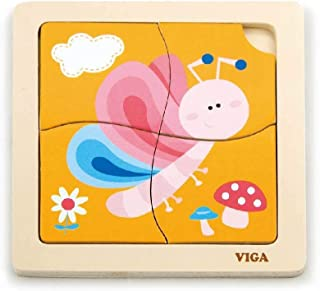 Handy Flat Puzzle-Bee-Wooden Educational Toys