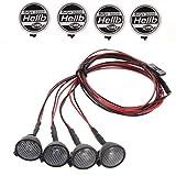 Almencla Kit de 4 Luces LED Blanco para Coche 1/10 Axial Scx10 D90 D110