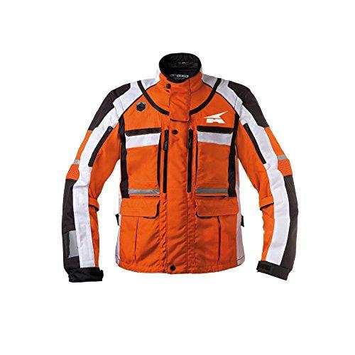 AXO MX6T0013O00XXXL Giacca Enduro Stone, Arancione/Bianco, XXXL