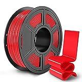 SUNLU PETG 3D Printer Filament, 3D Printing PETG Filament 1.75 mm, Strong 3D Filament, 1KG Spool (2.2lbs), Red