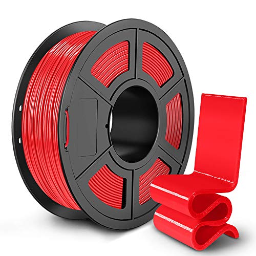 SUNLU PETG 3D Printer Filament, 3D Printing PETG Filament 1.75 mm, Strong 3D Filament, 1KG Spool (2.2lbs), Red