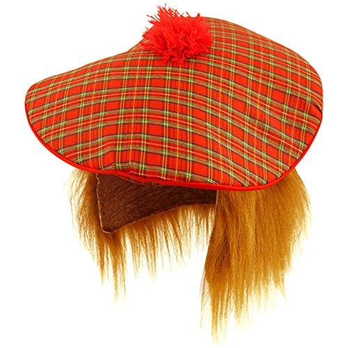Accessoire de costume - Chapeau écossais avec perruque