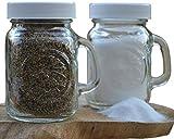 Golden Harvest, Ball Mason Jar Glass Salt and Pepper Shakers (Clear, Set of 2)