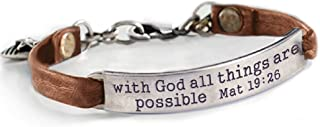 Sweet Romance with God All Things are Possible Mat 19:26 Inspirational Bible Message Bracelet