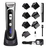 homeasy Haarschneider Maschine SET 0mm Rasierer Haare 6 in 1 Friseur Trimmer Herren mit Aufsatzkämmer von 0,8 bis 32,8mm kabelloser Haarscherer für Erwachsene und Kinder
