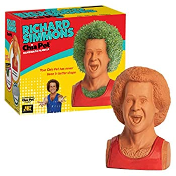 Chia Pet Richard Simmons with Seed Pack Decorative Pottery Planter Easy to Do and Fun to Grow Novelty Gift Perfect for Any Occasion