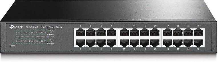 TP-Link 24 Port Gigabit Ethernet Switch | Desktop or Rackmount | Lifetime Protection | Plug and Play | Shielded Ports | Sturdy Metal | Fanless Quiet | Unmanaged (TL-SG1024S),Black