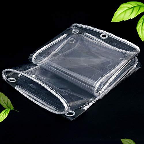 IJNBHU Lona Impermeable Lona de Protección, Toldo y 90% Transparente, con Ojales - Lona Resistente a la Intemperie y Plegable para Proteger Las Plantas, Duradera 350 g/m²2m x 2m/6.5ft x 6.5ft