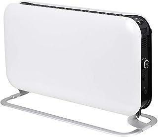 ZP-Heater Calefactor Convector,2000W Portátil Pared Calefactor Eléctrico Programable Diseño Elegante ,Soportes Incluidos,Blanco
