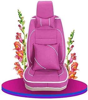 JKHOIUH Universal Fit Full Set Flat Cloth cuero Funda de asiento de automóvil, ajuste integral La mayoría de los automóviles, camiones, camionetas o furgonetas) Funda de asiento Conjunto combinado Fun