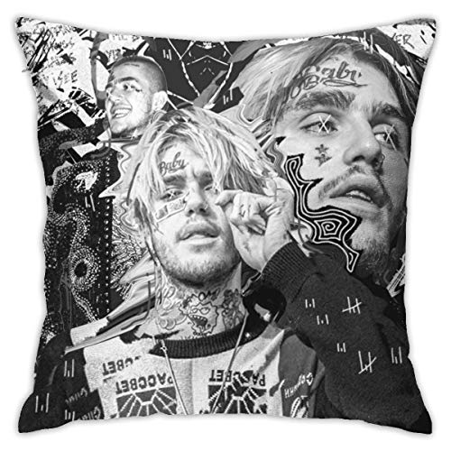 Lil Peep Pillow Cases, Sofa Bedroom Car Pillowcases, Reading Pillow Cover Decoration Pillow Cushion Cover 18X18in