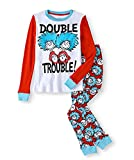 Boys Dr. Seuss Thing 1 & Thing 2' Double Trouble Cotton Pajamas (Blue White Red, Large)