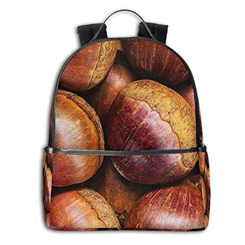 School Backpack, Raw Chestnuts Book Bag Bookbag Travel Casual Rucksack Daypack for Teenagers Girls Boys Man Women