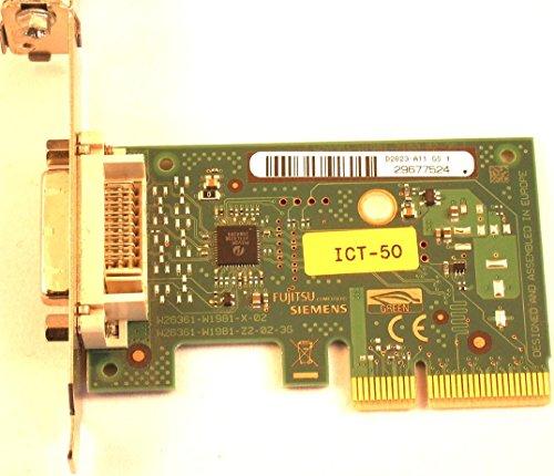 Fujitsu-Siemens D2823-A11 GS1 PCIe DVI Add Card Low Profile Grafikkarte Adapter