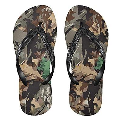 Mnsruu Flip-Flops Camouflage-Muster für