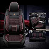 SUNQQJ Fundas Asientos Coche Universales para BMW 3 5 7 Serie F20 E90 F30 E60 F10 F11 G30 F01 G11 X1 X3 X4 X5 X6 F48 E83 F25 Accesorios Coche, Rojo Negro