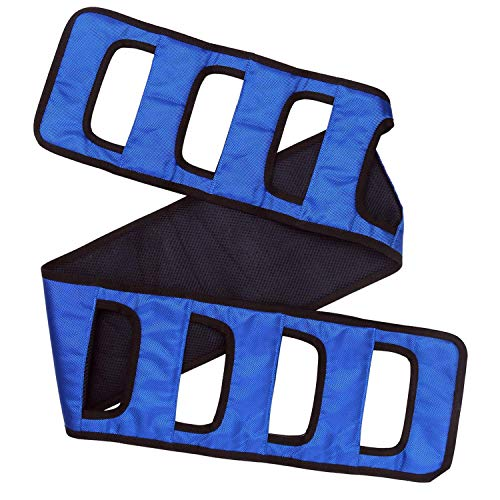 """Transfer Belt Patient Lift Board Belt The 62""""L×7.8""""W Transferring Turning Handicap Bariatric Patient Patient Care Safety Mobility Aids Equipment (Blue)"""