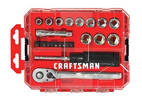 Craftsman CMMT12011 – Juego de llaves de vaso (24 unidades, 3/8″)