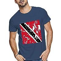 Trinidad And Tobago FlagTシャツメンズショートプルオーバークルーネックTシャツカジュアル薄手通気性夏服おしゃれ通勤通学日常人気トップススウェットおしゃれトレーナー