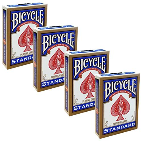 Shop4top 4 barajas de Bicycle Rider Back Standard Índice, cartas de trucos...