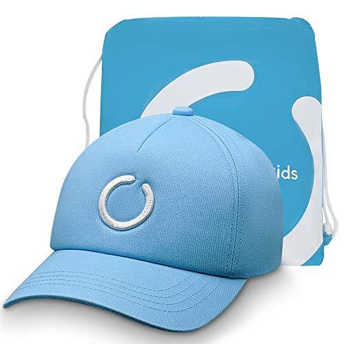 Gorra Azul para Niñas y Niños con Protección Solar UPF 50+ con Bolsa a Juego. Unisex. 5-12 años. Talla M (52-54 centímetros).