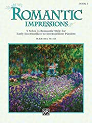 Romantic Impressions Book 1 Warm, lyrical, cantabile melodies and rich harmonic structures are found in this expressive series Warm, lyrical, cantabile melodies and rich harmonic structures are found in this expressive series