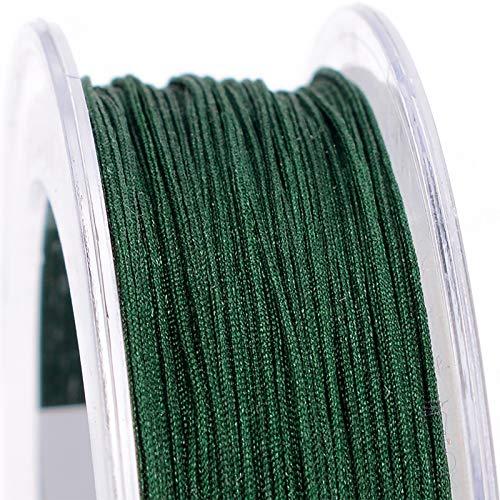 JKGHK Hilo De Nylon Cordón De Nailon Adecuado para Manualidades De Bricolaje (Diámetro 0,5 Mm),Dark Green