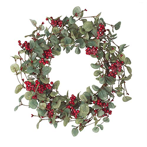 18 InchChristmas WreathChristmas Decorations with Berries Winter Wreath
