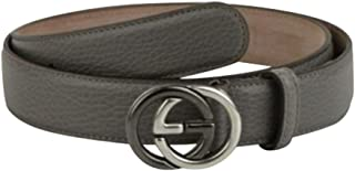 c1619d27a3d New Gucci Men s Grey Leather Belt with GG Buckle 295704 1226