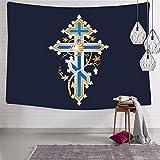 Tapiz decorativo de la pared de la cruz peculiar Tapices de la impresión 3D para el dormitorio de la sala de estar