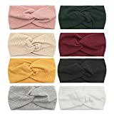Zando Turban Headbands for Women - Yoga Workout Headbands Thick Wide Headwraps Knotted Elastic Hair Accessories W-Mixed 4