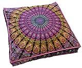 Indio tapiz decorativo funda de almohada, Indian suelo puf Otomano, perro cama hecho a mano, Boho Mandala de almohada de suelo funda para cojín, Indian mascota camas fabricado (solo funda)