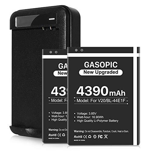 LG V20 Battery, 2X 4390mAh Li-ion Battery Replacement with Charger for V20,S996, H910, H918, VS995, LS997, VS995, H990T, H990N Dual, H990DS Dual, F200L | V20 Spare Battery