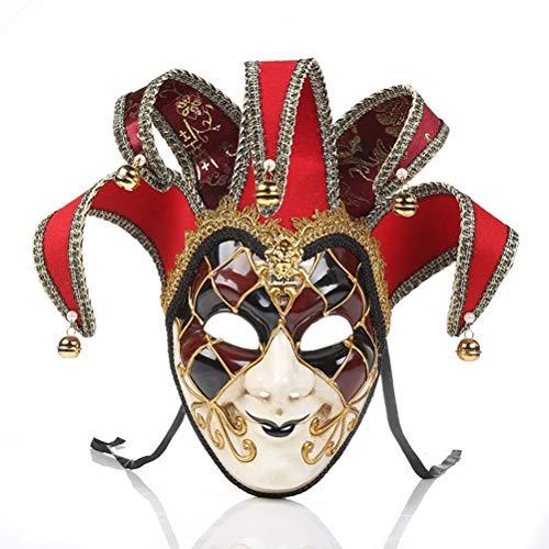 Volles Gesicht Venezianische Maskerade Maske für Frauen oder Männer, Party Maske Weihnachten Halloween Kostüme Karneval Anonym Masken