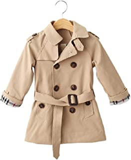 coowell ベビー コンパクト キッズ ジャケット 子供服 風抜け 裏加綿 トレンチコート イギリス風 子ども 防風 コート 男の子 女の子