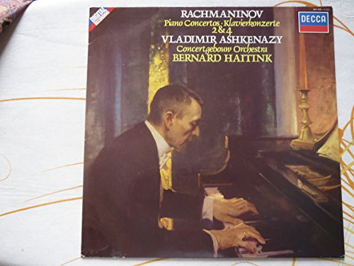 Sergei Rachmaninov: Piano Concertos / Klavierkonzerte 2 & 4. Piano Concerto No. 2 / Klavierkonzert Nr. 2, Op. 18. Piano Concerto No. 4 / Klavierkonzert Nr. 4, Op. 40. Vladimir Ashkenazy. Concertgebouw Orchestra. Bernard Haitink. Digital Recording. LP Vinyl. DECCA 414475-1/243193-1. EAN 028941447517