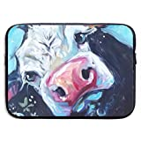 Waterproof Laptop Sleeve 13 Inch, Cow Flowers Business Briefcase Protective Bag, Computer Case Cover for Ultrabook, MacBook Pro, MacBook Air, Asus, Samsung, Sony, Notebook