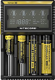 NITECORE Torches Universal Smart Charger Lights D2 Digicharger Battery Charger D2 Made from ABS Material NCD2, Black (D2)