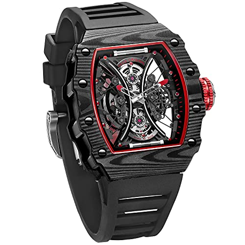 FEICE Men's Automatic Wrist Watch Sapphire Crystal Japanese Movement Skeleton Automatic Mechanical Watch Waterproof Sports Wristwatch - FM602