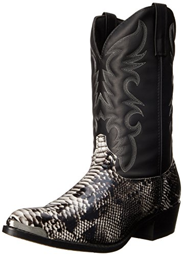 Laredo Men's 68067 Monty Western Boot,Black / White,12 D US
