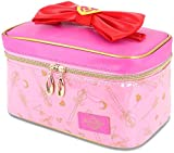 Roffatide Anime Sailor Moon Cosmetic Bag for Women Waterproof Makeup Bag Travel Organizer Case Storage Bag Pink Medium
