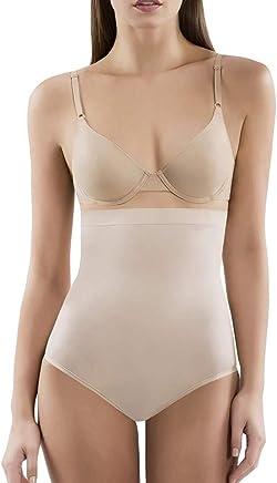 Wearslim Slim Control Women's High Waist Slimming Shapewear Panties – Tummy with Butt Tucker Body Shaper - Cream