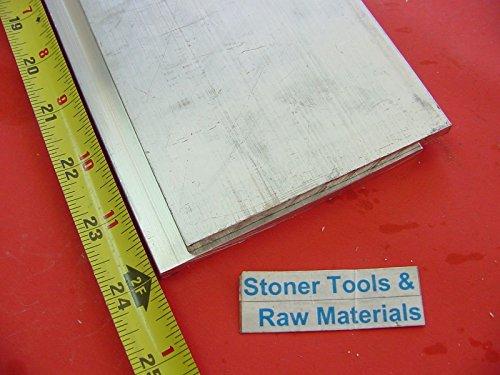 "2 pieces 1/4""x 4"" ALUMINUM 6061 FLAT BAR 24"" long T6511 .25 New Plate Mill Stock"
