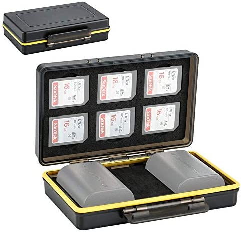 SD Card Holder Camera Battery Case 2in1 Storage Box for 6 SD SDHC SDXC Memory Cards 2 Canon product image