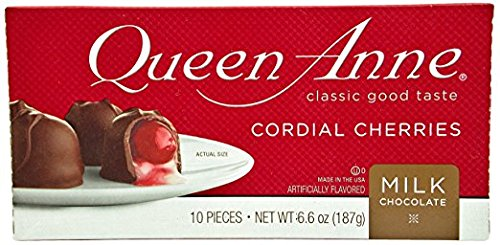 Queen Anne Cordial Cherries, Milk Chocolate-covered, 6.6 Ounces (10 Count Box, Pack of 1))