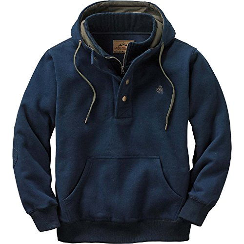 Legendary Whitetails Men's Standard Tough As Buck Action Hoodie, Midnight Navy, Large