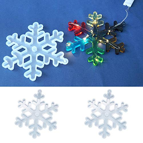 Molde de resina epoxi de cristal NAIXUE con forma de copo de nieve de Navidad, diseño de copo de nieve