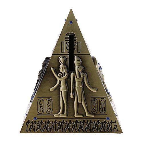 sharprepublic Antiguo Egipto Pirámide Hucha Ahorro Olla Vintage Home Decor Craft - Bronce #1