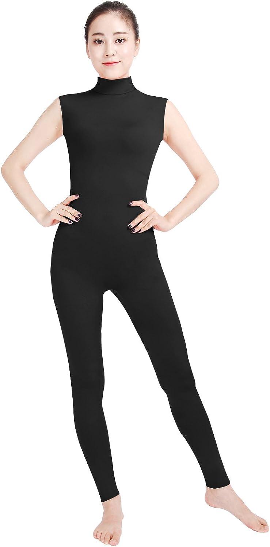 Shinningstar Women's Industry No. 1 Well-fit Spandex Sleeveless Turtleneck Danc 25% OFF